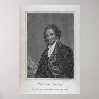 Retrato de Thomas Paine del volumen I Póster