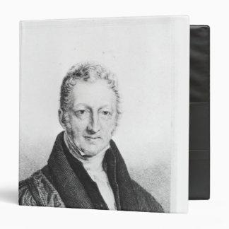"""Retrato de Thomas Robert Malthus Carpeta 1 1/2"""""""