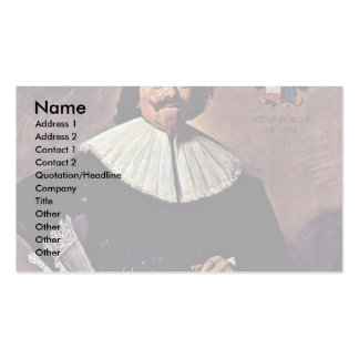 Retrato de Tieleman Roosterman de Francisco Hals Plantilla De Tarjeta De Negocio
