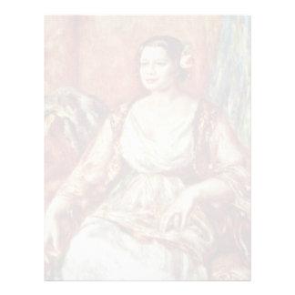 Retrato de Tilla Durieux de Pierre-Auguste Renoir Plantillas De Membrete