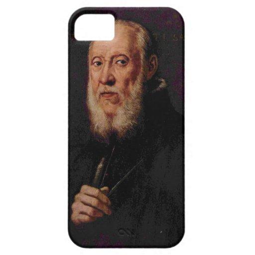 Retrato de Tintoretto- del escultor Jacopo Sansovi iPhone 5 Coberturas
