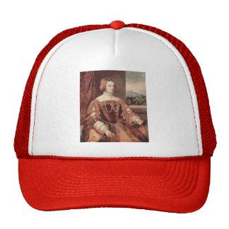 Retrato de Titian- de Isabel de Portugal Gorros Bordados
