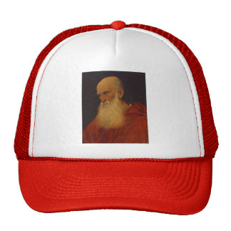 Retrato de Titian- de un viejo hombre (Pietro Bemb Gorra
