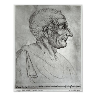 Retrato de Titus Livius conocido como Livy Póster