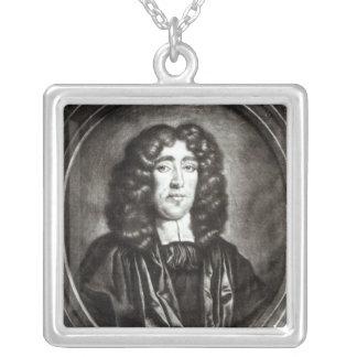 Retrato de Titus Oates grabado por R. Thompson Collar Plateado