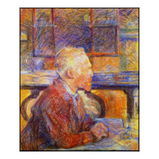 Retrato de Toulouse-Lautrec de Van Gogh Posters