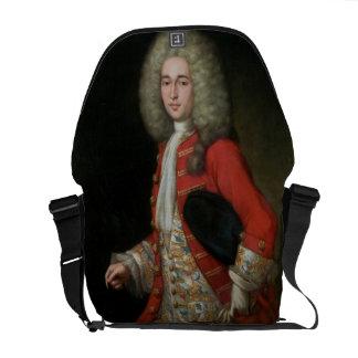 Retrato de tres cuartos de la longitud de un cabal bolsas de mensajería
