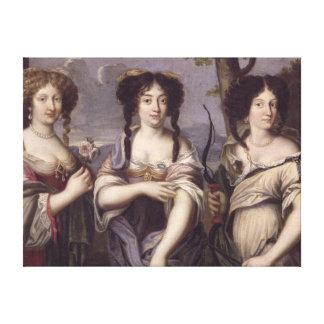 Retrato de tres de sobrinas del cardenal impresiones en lona