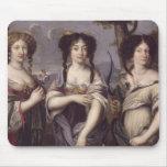 Retrato de tres de sobrinas del cardenal tapete de raton