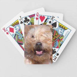 Retrato de trigo suavemente revestido de Terrier Baraja Cartas De Poker