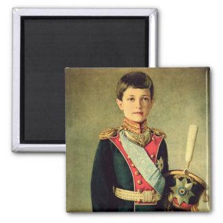 Retrato de Tsarevitch Alexei Nikolaevich; Imán Cuadrado