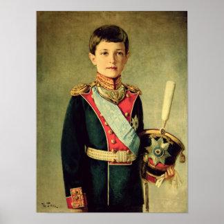 Retrato de Tsarevitch Alexei Nikolaevich; Póster