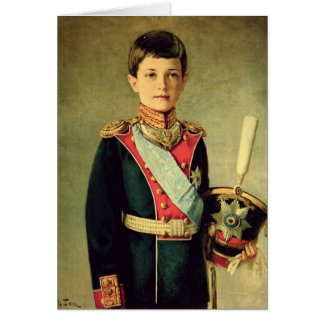Retrato de Tsarevitch Alexei Nikolaevich; Tarjeta De Felicitación