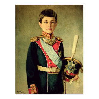 Retrato de Tsarevitch Alexei Nikolaevich; Tarjeta Postal