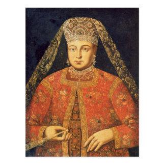 Retrato de Tsarina Marfa Matveyevna Postal