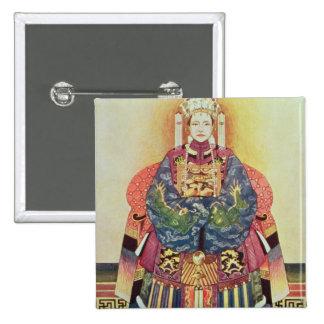 Retrato de Tzu el suyo, la viuda de emperatriz Pin Cuadrado
