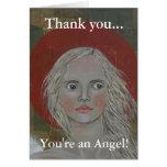 Retrato de un ángel felicitación