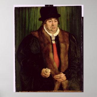 Retrato de un aristócrata de Munich, 1559 Posters