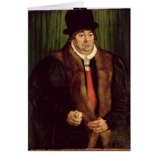 Retrato de un aristócrata de Munich, 1559 Tarjeta De Felicitación