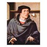 Retrato de un arquitecto de Westfälischer Meister Tarjeton