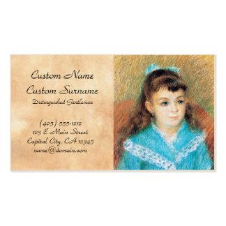 Retrato de un arte de Pedro Auguste Renoir de la Tarjetas De Visita
