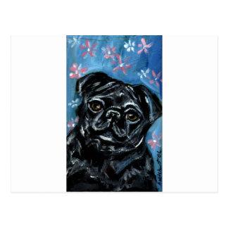 Retrato de un barro amasado negro postal
