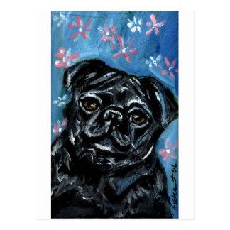 Retrato de un barro amasado negro tarjetas postales