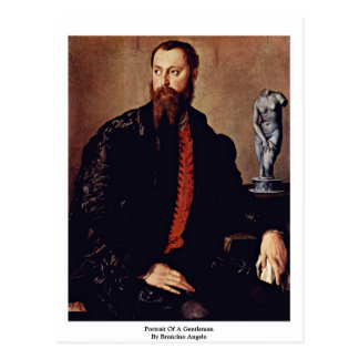 Retrato de un caballero de Bronzino Ángel Postal