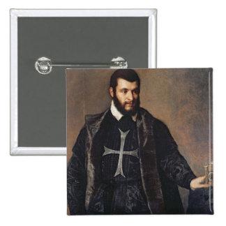 Retrato de un caballero de la orden de Malta Pin Cuadrado