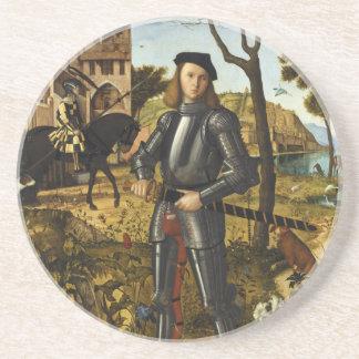 Retrato de un caballero de Vittore Carpaccio Posavasos Diseño