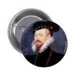 Retrato de un caballero desconocido, 1576 pin redondo 5 cm