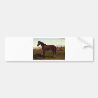 Retrato de un caballo de Albert Bierstadt Pegatina Para Auto