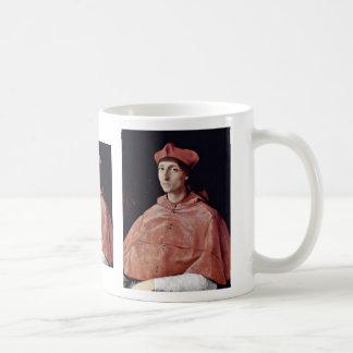 Retrato de un cardenal de Raffael (la mejor calida Taza