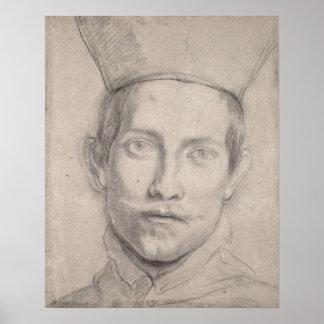 Retrato de un cardenal póster