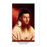 Retrato de un cartujo de Peter Cristo Tarjetas Postales