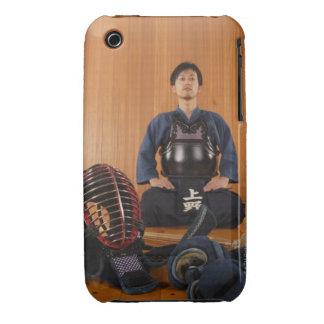 Retrato de un cercador de Kendo con el equipo Funda Para iPhone 3 De Case-Mate