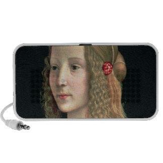 Retrato de un chica, c.1490 laptop altavoz