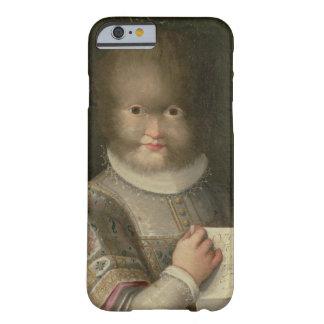 Retrato de un chica cubierto en pelo funda de iPhone 6 barely there