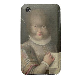 Retrato de un chica cubierto en pelo iPhone 3 Case-Mate funda