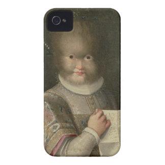 Retrato de un chica cubierto en pelo iPhone 4 Case-Mate cárcasas