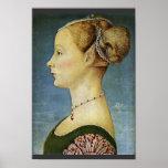 Retrato de un chica de Pollaiuolo Piero Póster