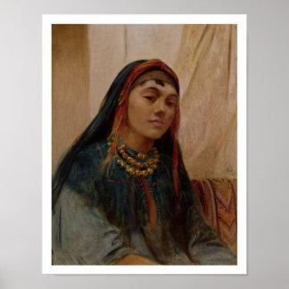 Retrato de un chica medio-oriental, c.1859 (aceite póster