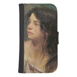 Retrato de un chica oscuro-haired, 1867 billetera para galaxy s4