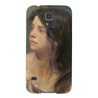 Retrato de un chica oscuro-haired, 1867 funda para galaxy s5