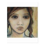 retrato de un chica tarjeta postal
