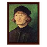 Retrato de un clérigo de Albrecht Dürer Tarjetas Postales