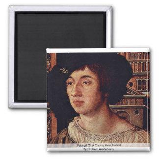 Retrato de un detalle del hombre joven iman