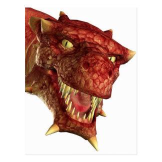 retrato de un dragón postal