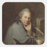 Retrato de un escritor, 1772 pegatina cuadrada