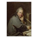 Retrato de un escritor, 1772 tarjeta de felicitación